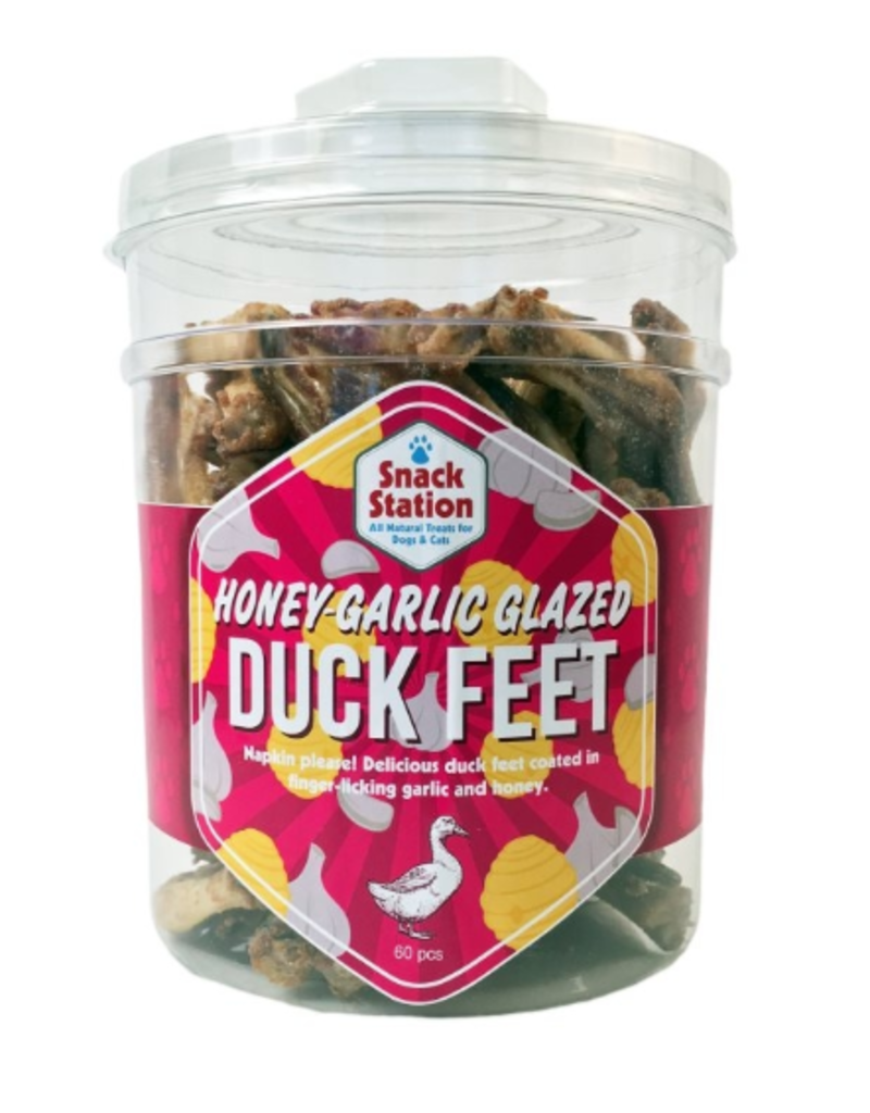 This & That Snack Station Honey Garlic Duck Feet Dog Treats, 60-count