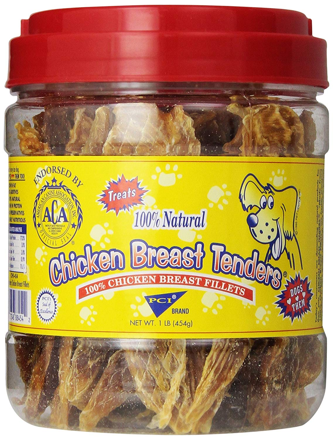 Pet Center Sliced Chicken Breast Tenders Dog Treats, 1-lb