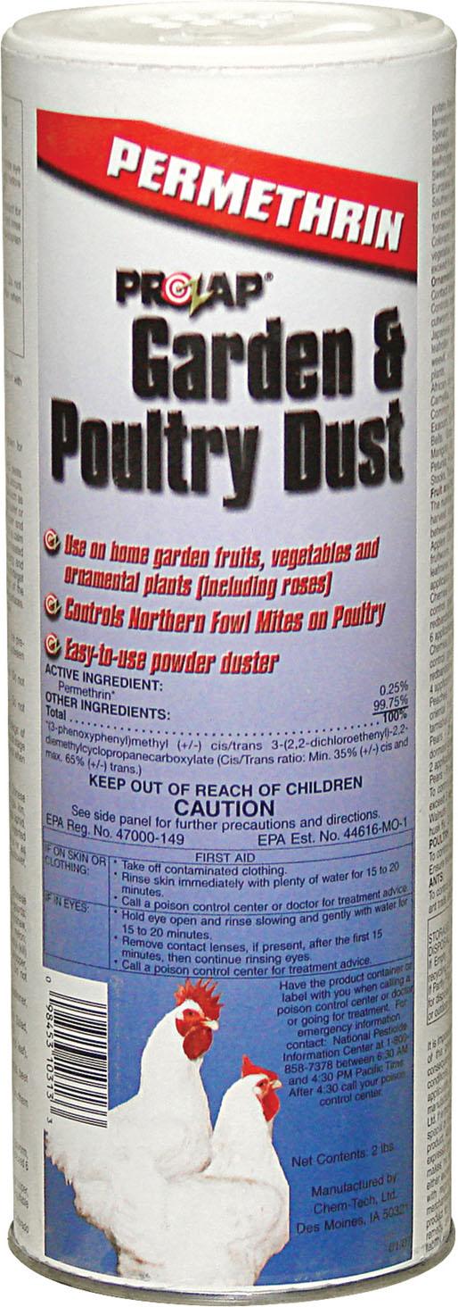 Prozap Garden & Poultry Dust, 2-lb