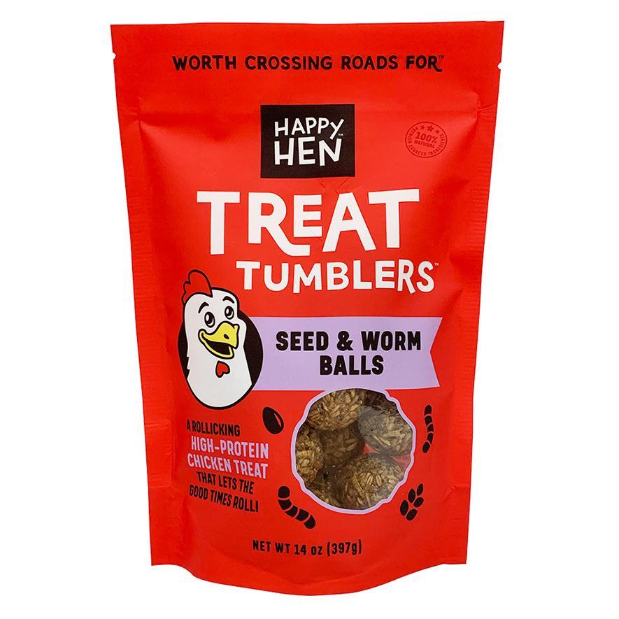Happy Hen Treats Treat Tumblers Seed & Worm Balls Chicken Treats, 14-oz
