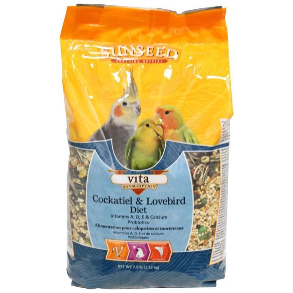 Sunseed Vita Cockatiel & Lovebird Diet, 2.5-lb bag