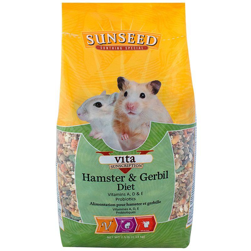 Sunseed Vita Hamster & Gerbil Diet, 2.5-lb bag