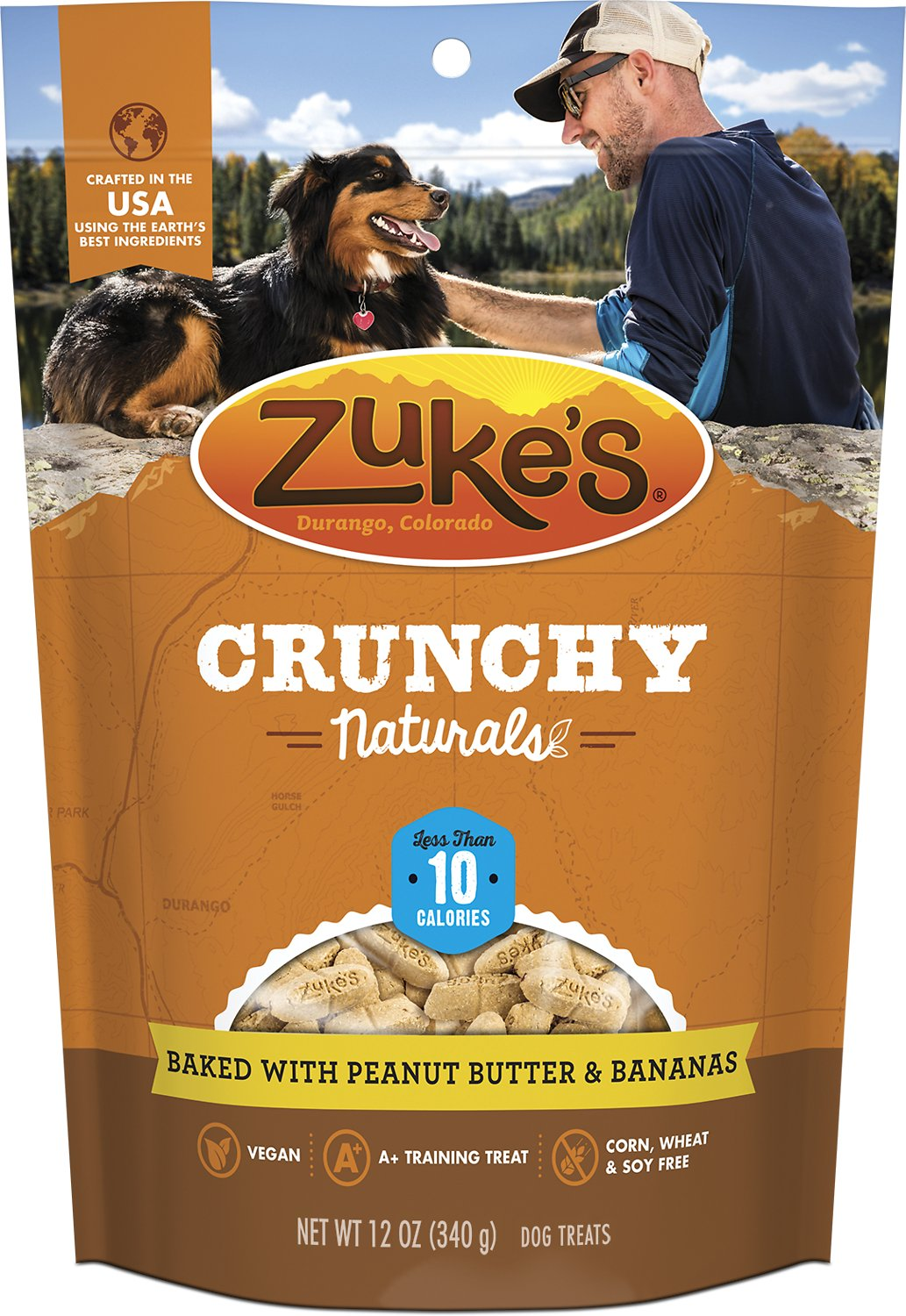 Zuke's Crunchy Naturals 10s Baked With Peanut Butter & Bananas Dog Treats, 12-oz bag (Weights: 12 ounces) Image