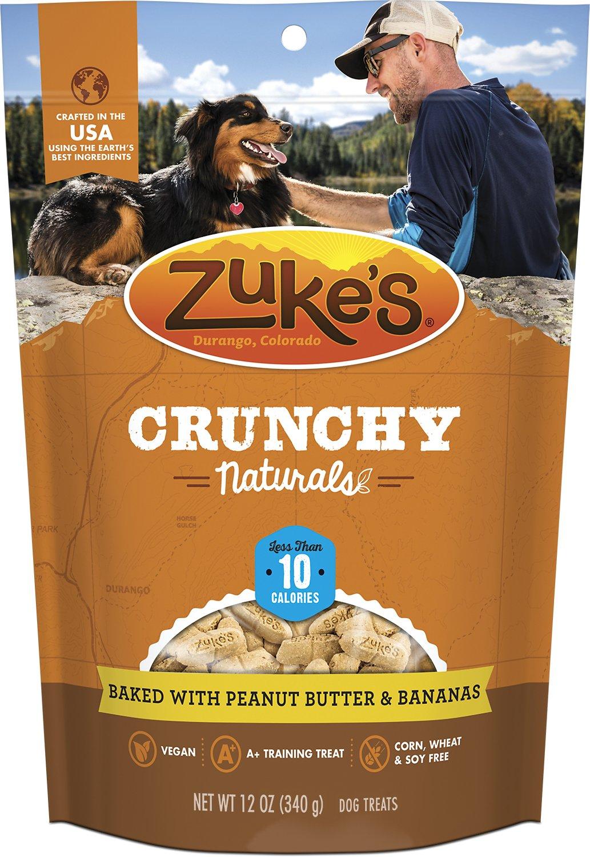 Zuke's Crunchy Naturals 10s Baked With Peanut Butter & Bananas Dog Treats, 12-oz bag
