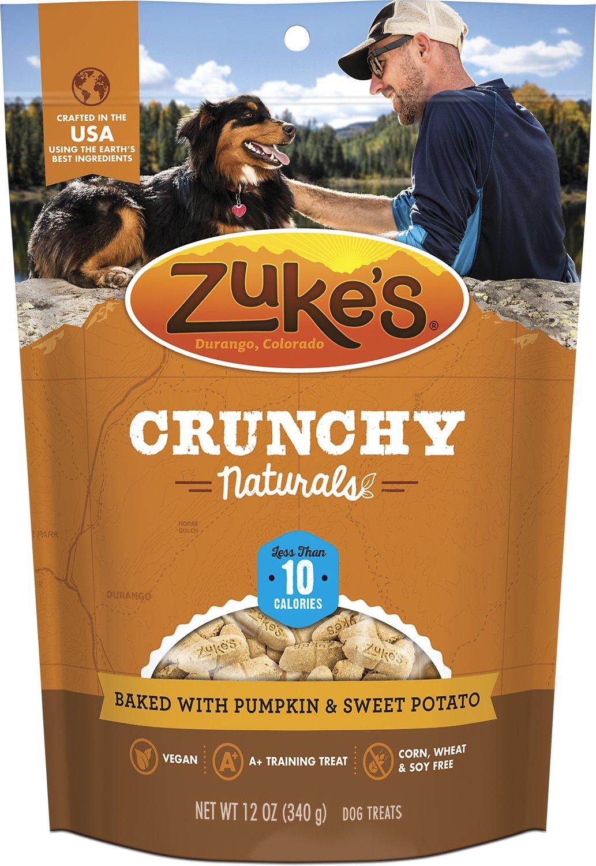 Zuke's Crunchy Naturals 10s Baked With Pumpkin & Sweet Potatoes Dog Treats, 12-oz bag (Weights: 12ounces) Image