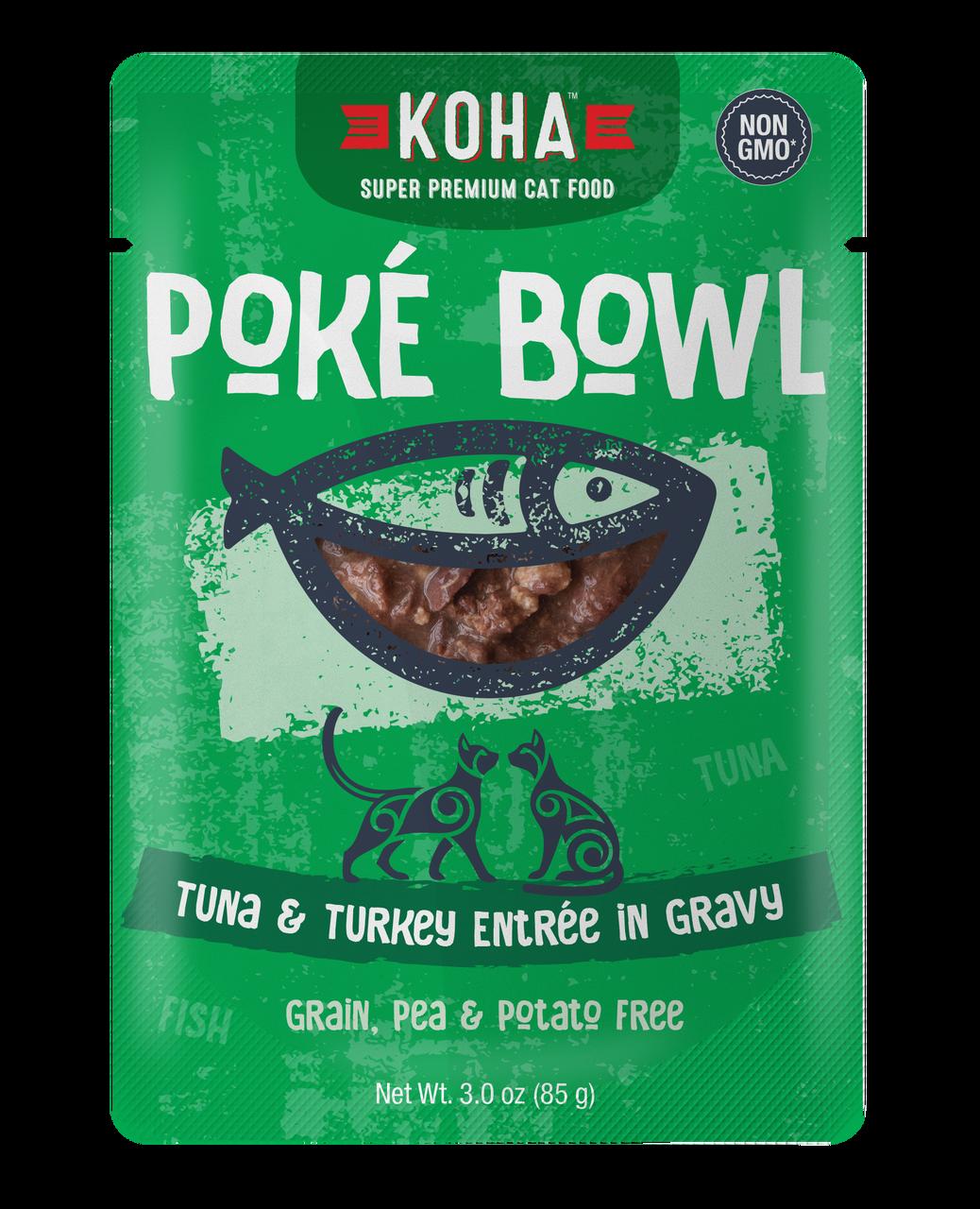 Koha Cat Poke Bowl Tuna & Turkey Entrée in Gravy Wet Cat Food, 3-oz pouch