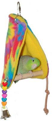 Super Bird Creations Peekaboo Perch Bird Tent, Color Varies, Small