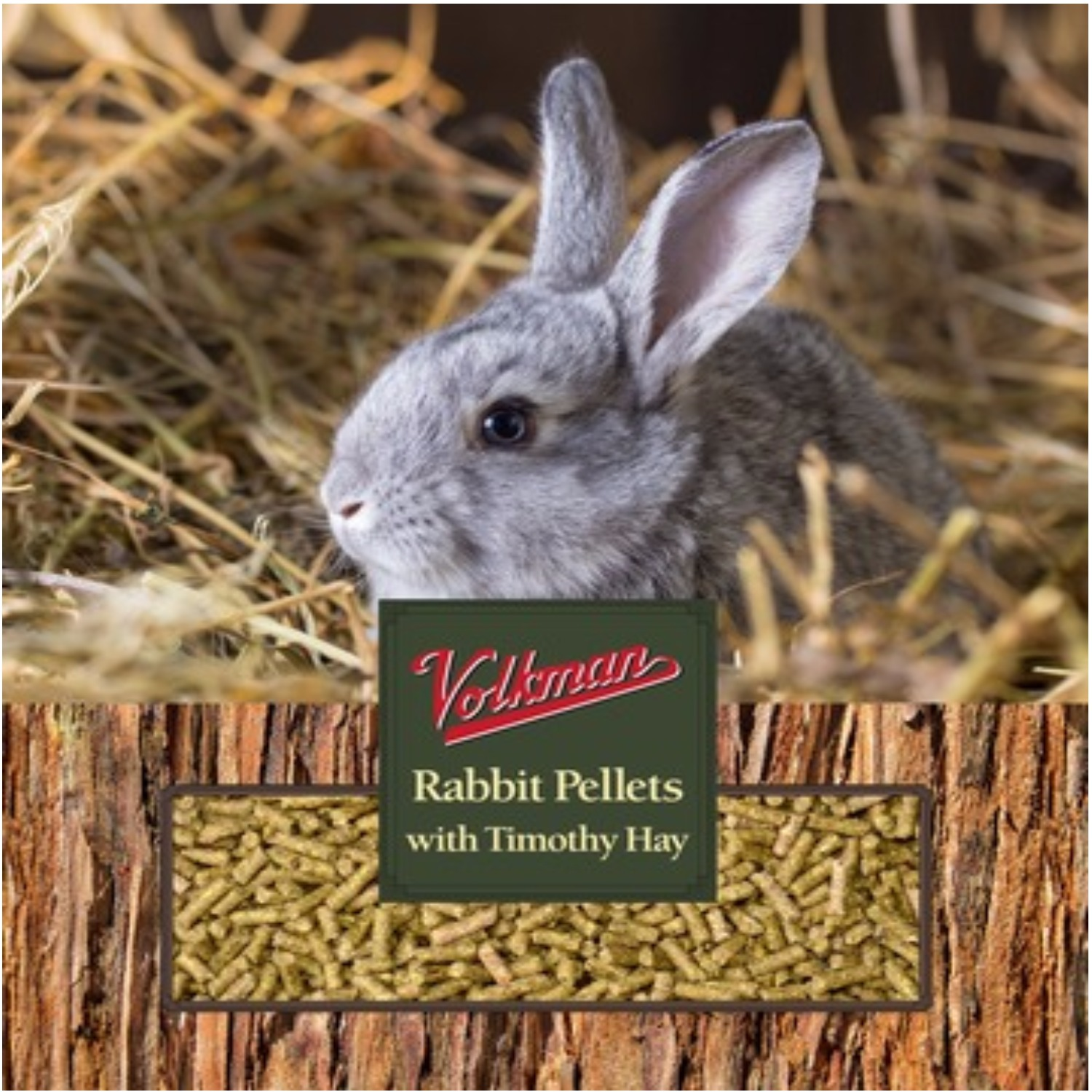Volkman Pellets with Timothy Hay Rabbit Food Image