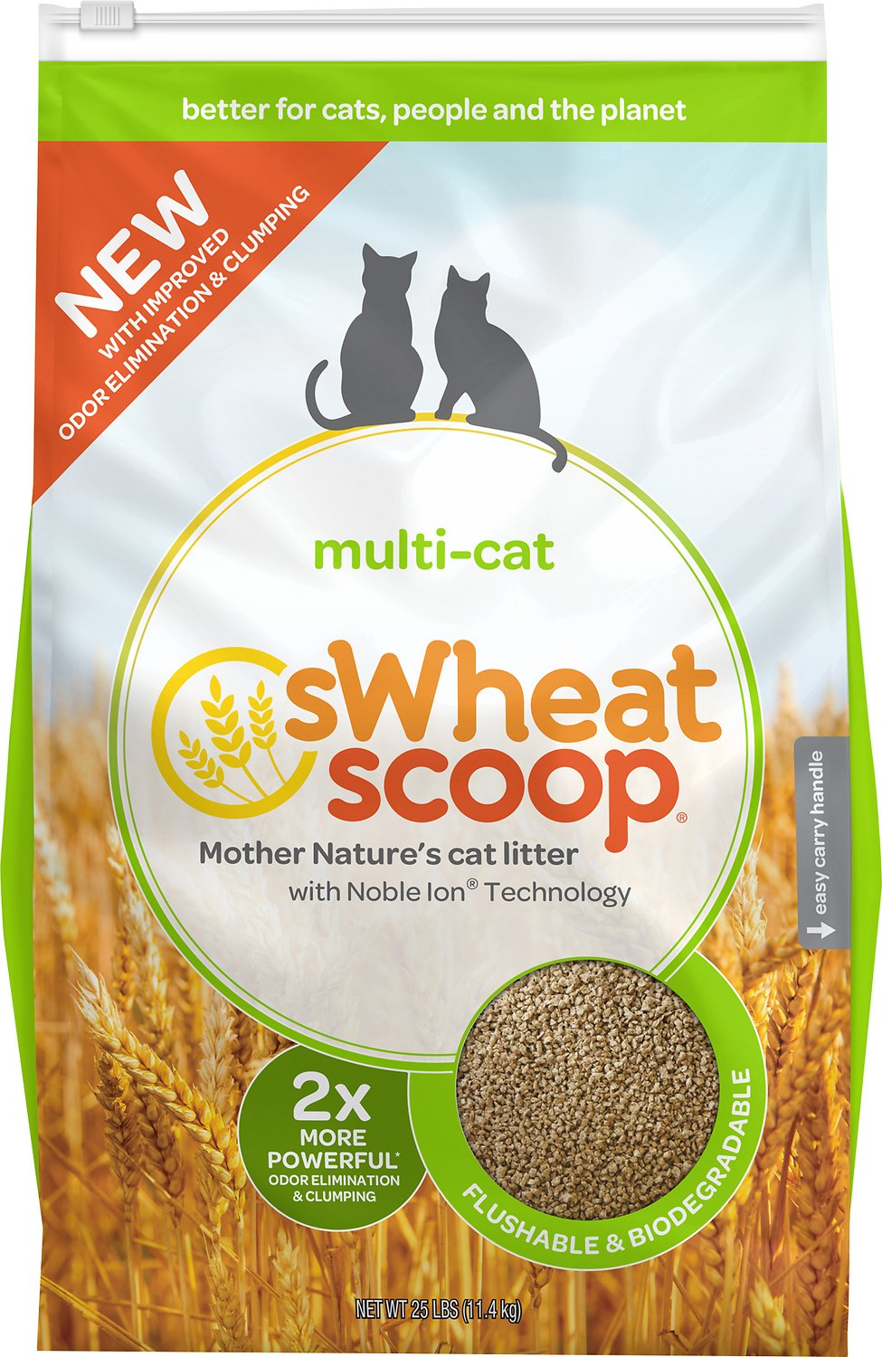 sWheat Scoop Multi-Cat Natural Wheat Cat Litter Image
