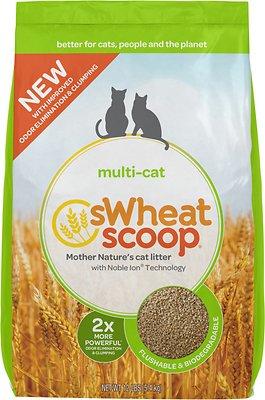 sWheat Scoop Multi-Cat Natural Wheat Cat Litter, 12-lb