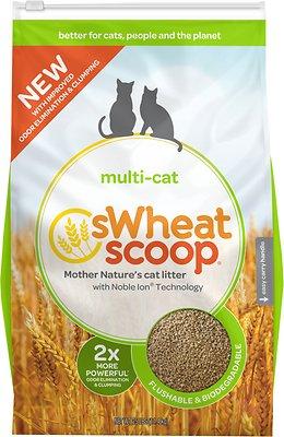 sWheat Scoop Multi-Cat Natural Wheat Cat Litter, 25-lb