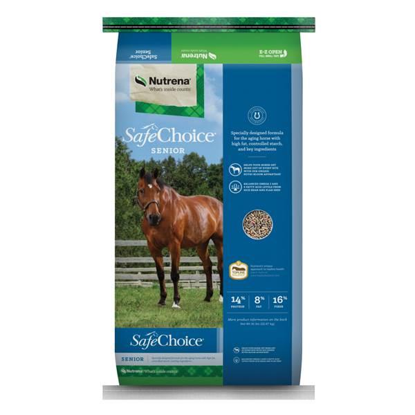 Nutrena SafeChoice Senior Pellet Horse Feed, 50-lb