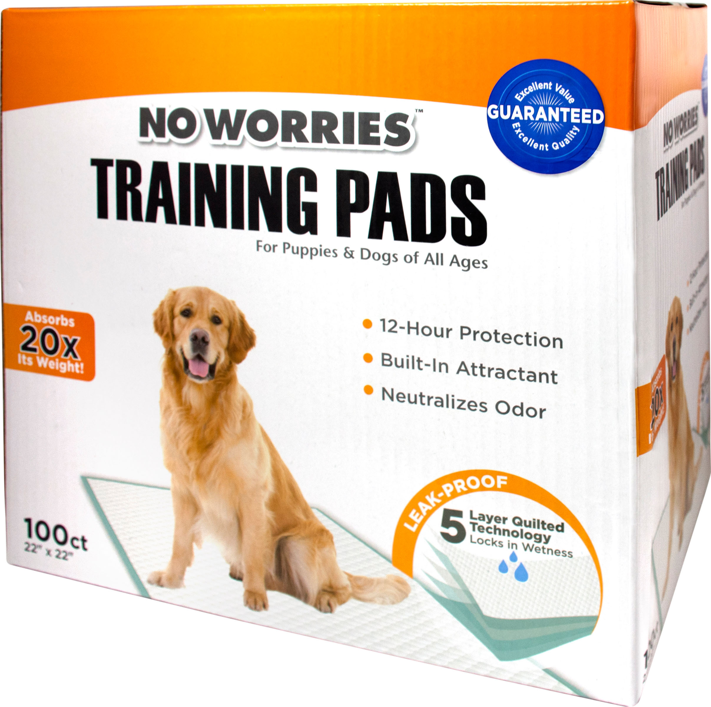 Four Paws No Worries Training Dog Pads, 100-count (Size: 100-count) Image