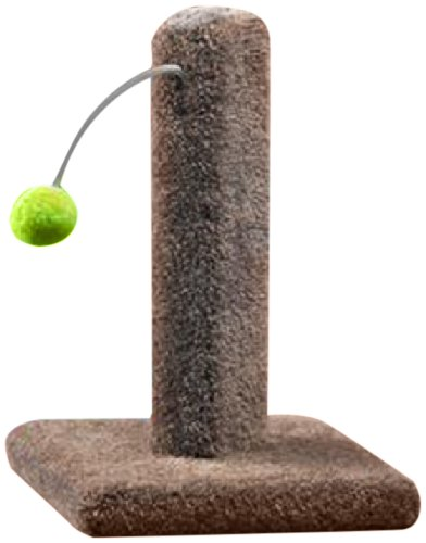 Ware Manufacturing Carpeted Kitty Cactus with Pom Pom Cat Scratch Post , 16-in