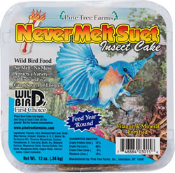 Pine Tree Farms Never Melt Insect Suet Cake Wild Bird Food, 12-oz