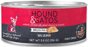Hound & Gatos Salmon Formula Grain-Free Canned Cat Food, 5.5-oz can