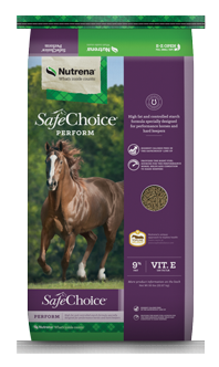 Nutrena SafeChoice Perform Horse Feed, 50-lb