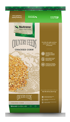 Nutrena Country Feeds Cracked Corn Livestock Feed, 50-lb