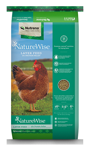Nutrena NatureWise Layer 16% Pellet Poultry Feed, 50-lb