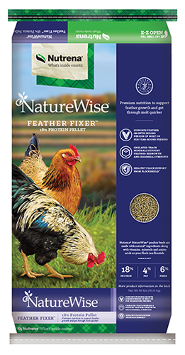Nutrena NatureWise Feather Fixer Poultry Feed, 40-lb
