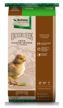 Nutrena Country Feeds Chick Starter Grower Poultry Feed, 50-lb