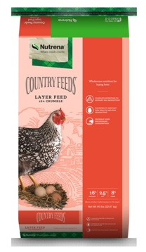 Nutrena Country Feeds Layer 16% Crumble Poultry Feed, 50-lb