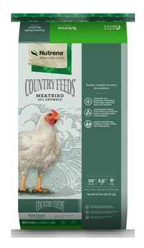 Nutrena Country Feeds Meatbird 22% Crumbles Poultry Feed, 50-lb