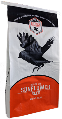 Bar ALE Black Oil Sunflower Non-GMO Bird Food, 40-lb
