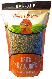 Bar ALE Tillie's Treats Dried Mealworms Poultry Treats Image
