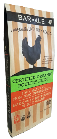 Bar ALE Organic 18% Soy-Free Corn-Free Layer Pellet Poultry Feed, 40-lb
