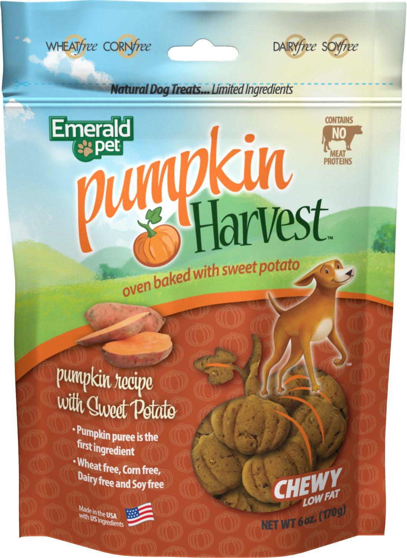 Emerald Pet Pumpkin Harvest Oven Baked With Sweet Potato Dog Treats, 6-oz