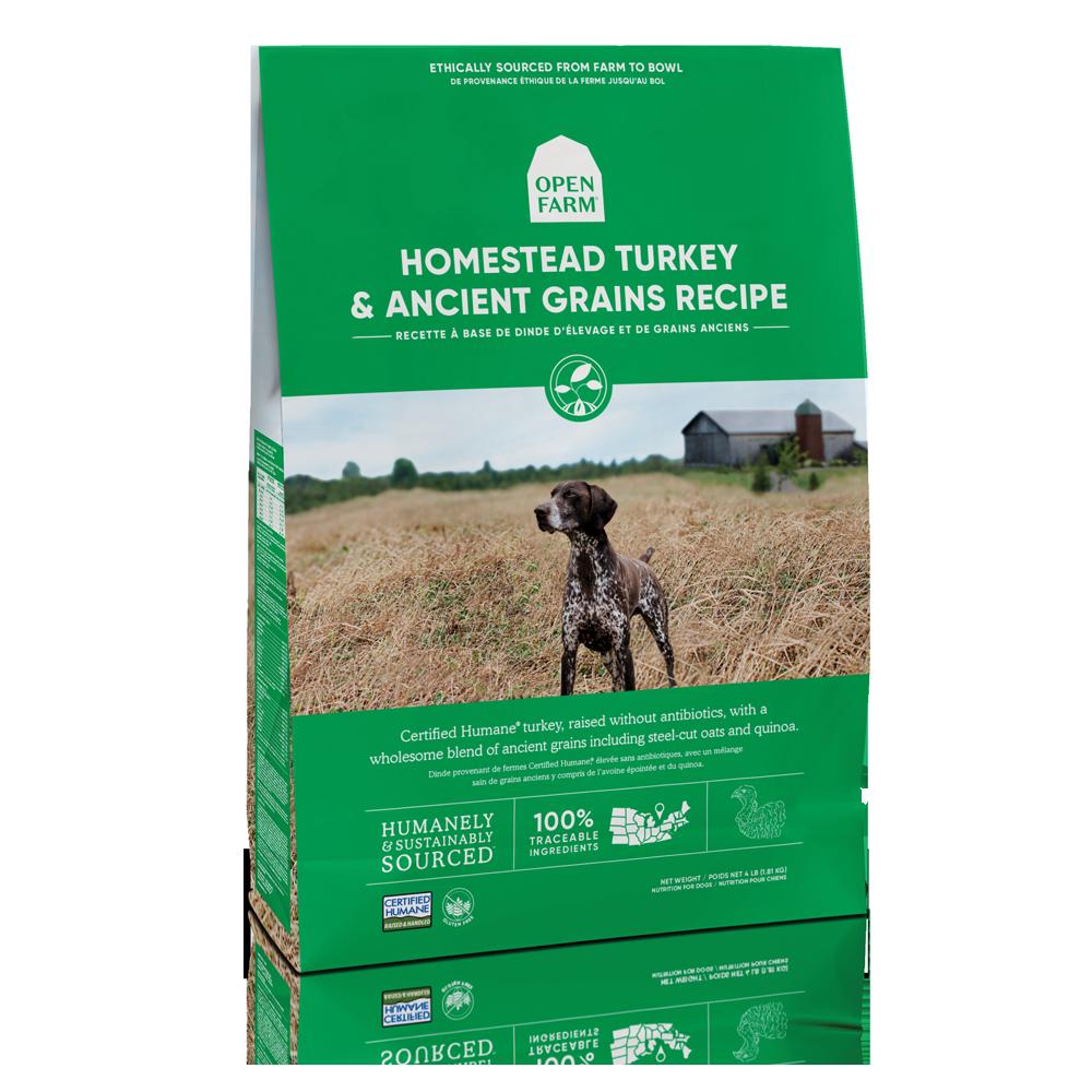 Open Farm Homestead Turkey & Ancient Grains Recipe Dry Dog Food, 4-lb bag
