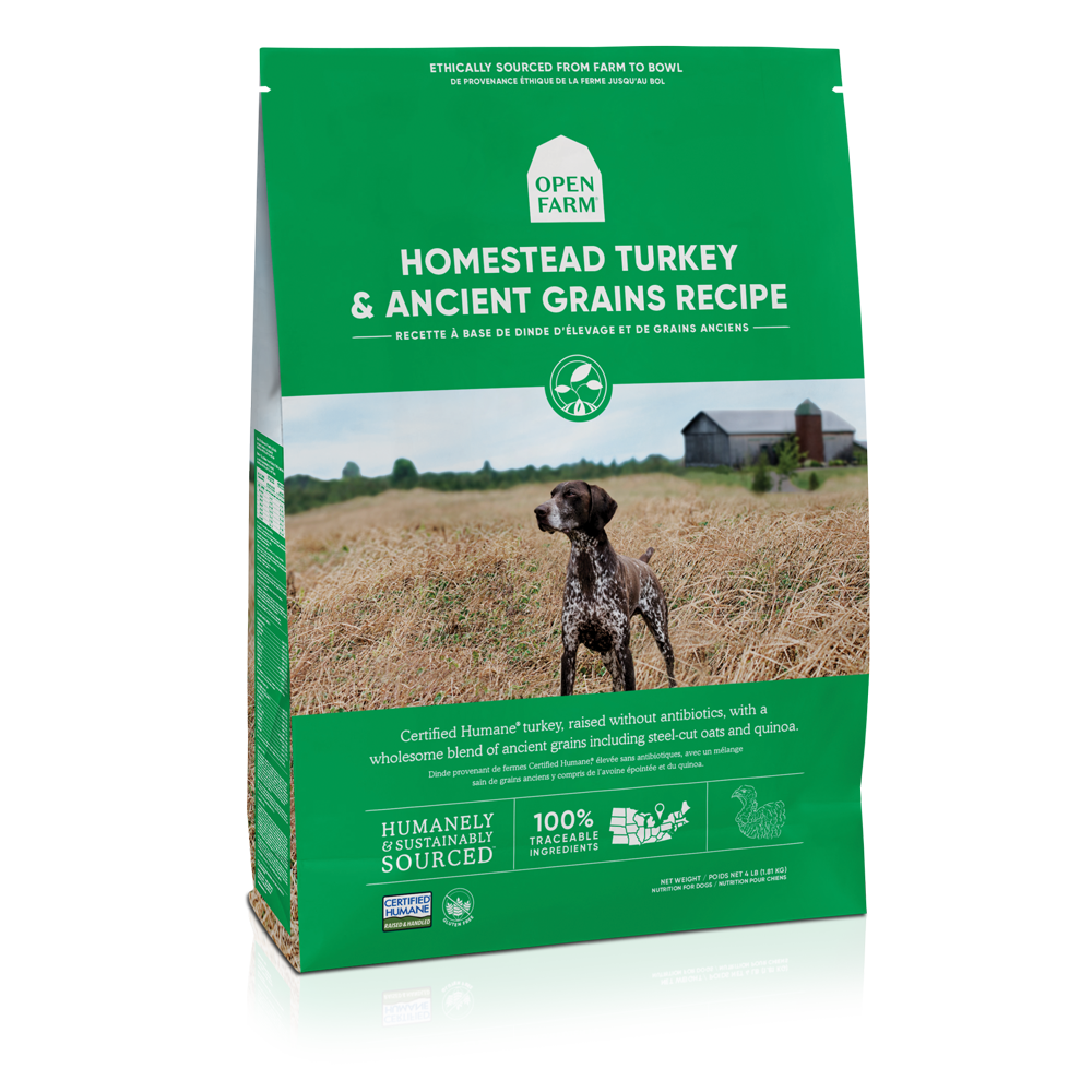Open Farm Homestead Turkey & Ancient Grains Recipe Dry Dog Food, 11-lb bag