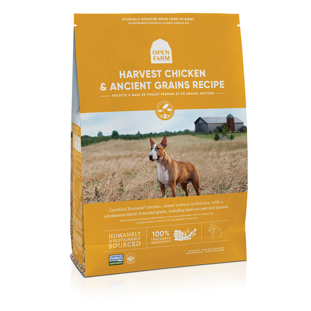 Open Farm Harvest Chicken & Ancient Grains Recipe Dry Dog Food, 4-lb bag