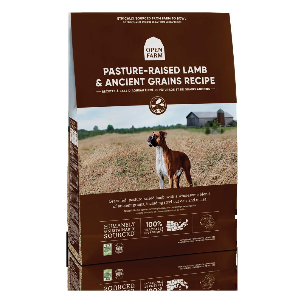 Open Farm Pasture-Raised Lamb & Ancient Grains Recipe Dry Dog Food, 4-lb bag