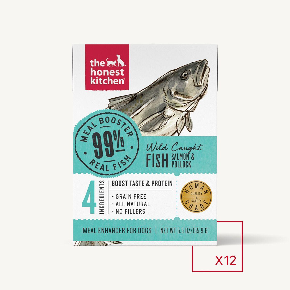 Honest Kitchen Grain-Free 99% Wild-Caught Salmon & Pollock Wet Dog Food Topper, 5.5-oz box
