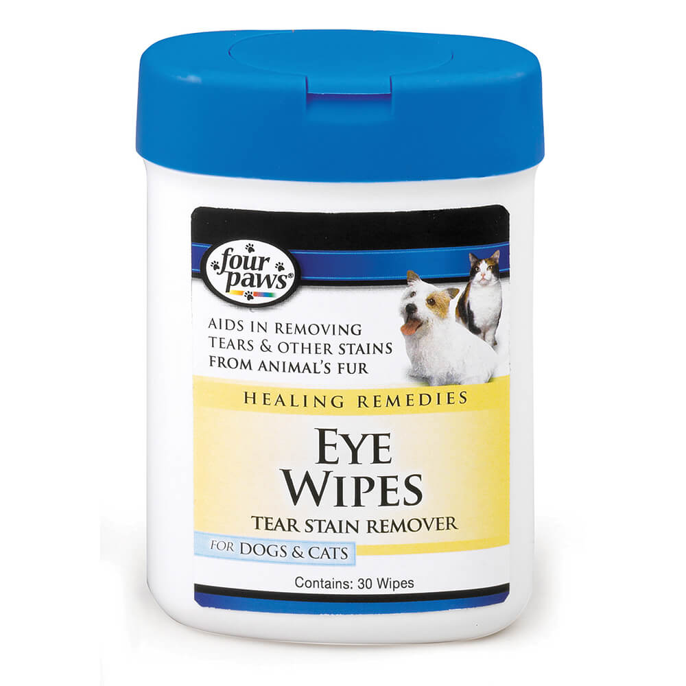 Four Paws Healing Remedies Tear Stain Remover Dog & Cat Eye Wipes, 25-count (Size: 25-count) Image