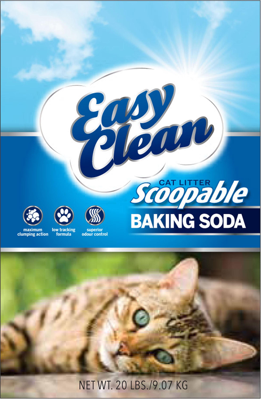 Easy Clean Baking Soda Scoopable Cat Litter, 20-lb
