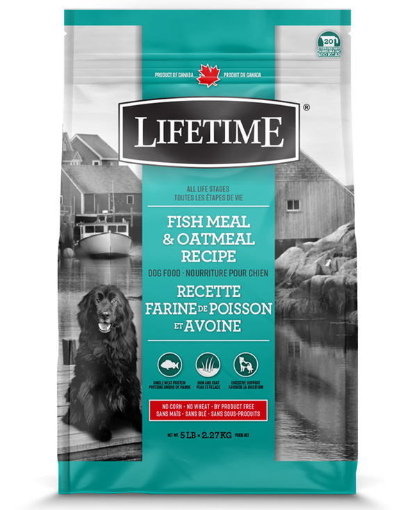 Lifetime Fish Meal & Oatmeal Recipe Dry Dog Food, 5-lb Size: 5-lb