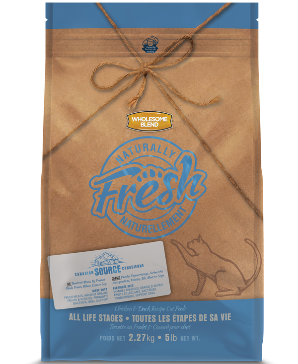 Wholesome Blend Fresh Chicken & Duck Recipe Dry Cat Food, 5-lb