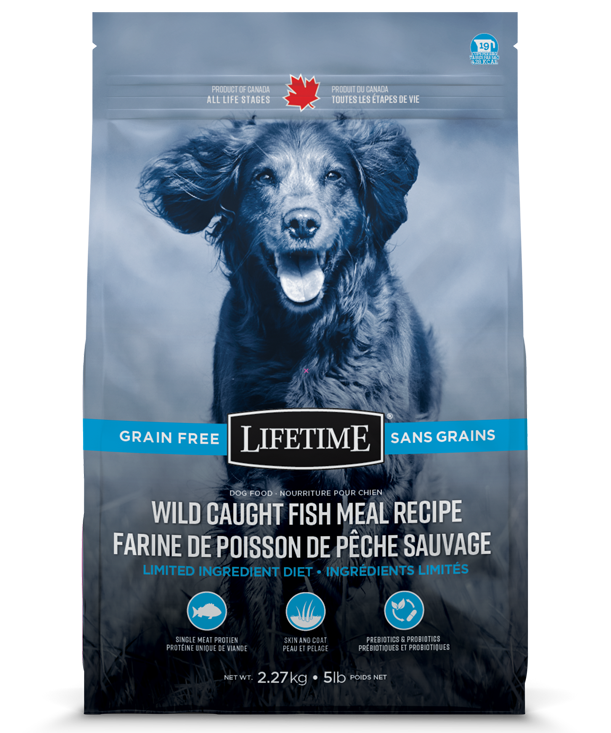Lifetime Wild Caught Fish Meal Recipe Grain Free Dry Dog Food, 25-lb