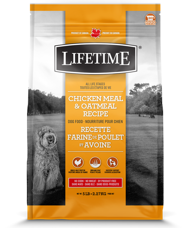 Lifetime Chicken Meal & Oatmeal Recipe Dry Dog Food, 25-lb