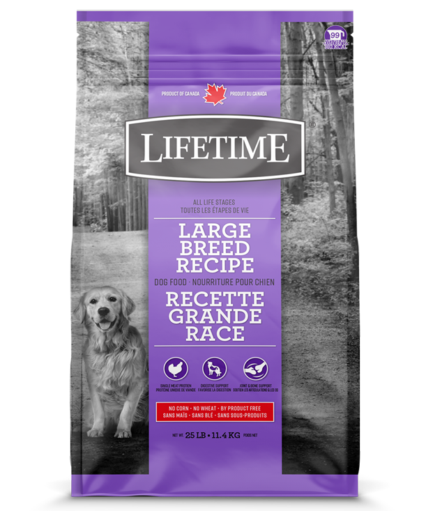 Lifetime Chicken & Oatmeal Large Breed Recipe Dry Dog Food, 25-lb