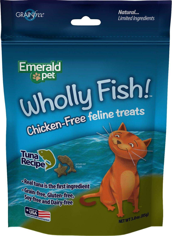 Emerald Pet Wholly Fish! Tuna Recipe Cat Treats, 3-oz