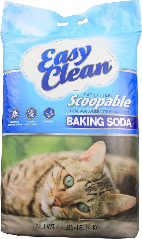 Easy Clean Baking Soda Scoopable Cat Litter, 40-lb