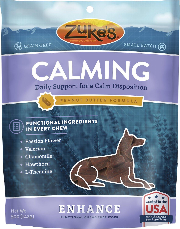 Zuke's Enhance Calming Peanut Butter Formula Dog Treats, 5-oz bag