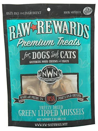 Northwest Naturals Premium Green Lipped Mussels Freeze-Dried Dog Treats, 2-oz