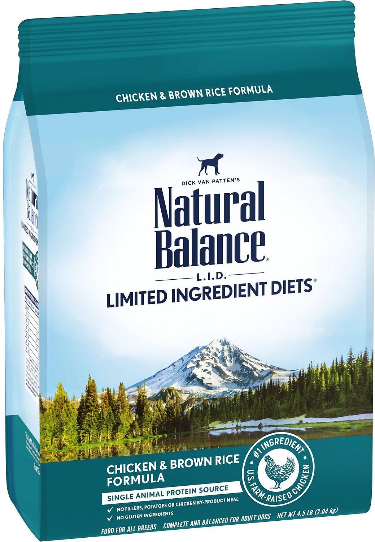 Natural Balance L.I.D. Limited Ingredient Diets Chicken & Brown Rice Formula Dry Dog Food, 4-lb