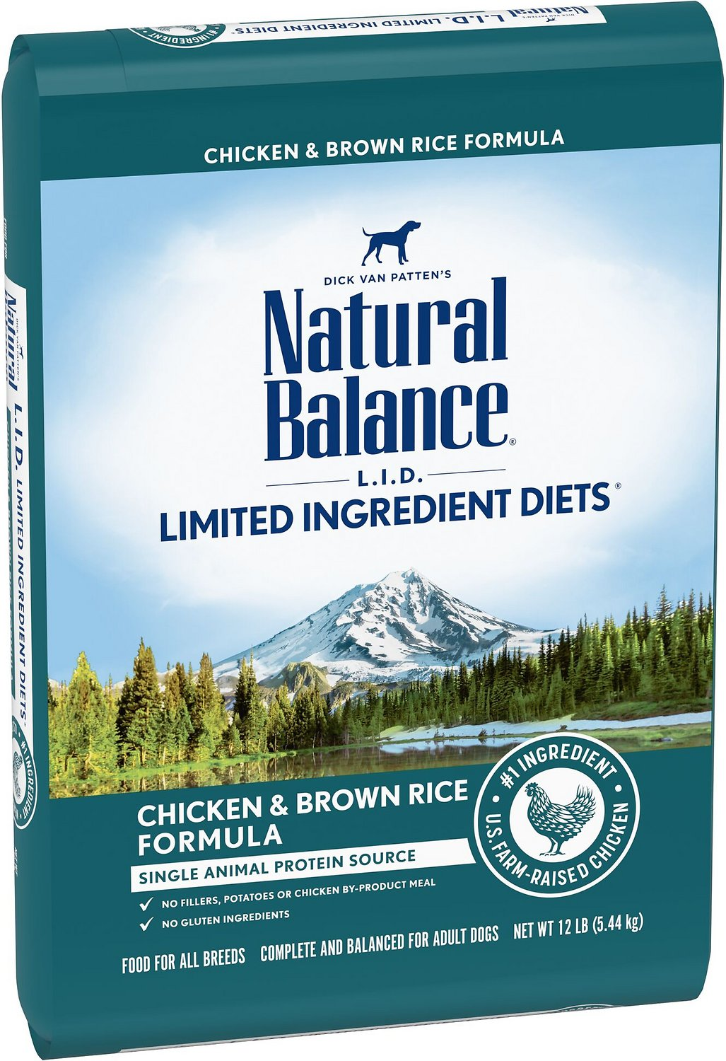 Natural Balance L.I.D. Limited Ingredient Diets Chicken & Brown Rice Formula Dry Dog Food, 12-lb
