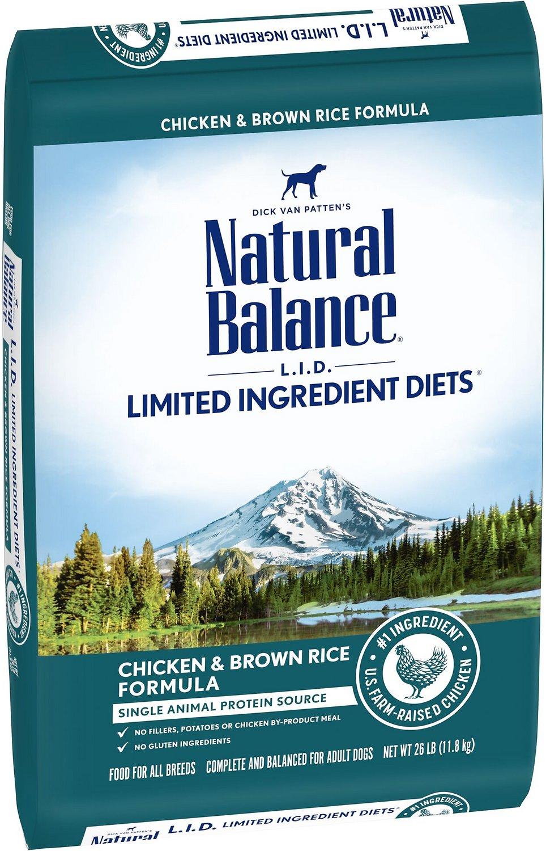 Natural Balance L.I.D. Limited Ingredient Diets Chicken & Brown Rice Formula Dry Dog Food, 26-lb